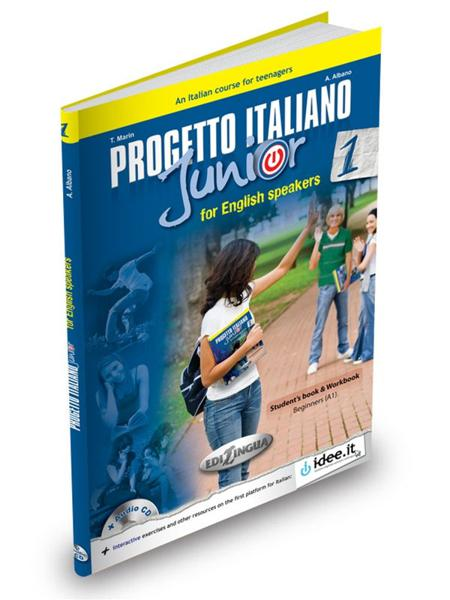 PROGETTO ITALIANO JUNIOR 1 FOR ENGLISH SPEAKERS STUDENTE ED ESERCIZI (+DVD) (A1)