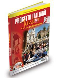 PROGETTO ITALIANO JUNIOR 2 FOR ENGLISH SPEAKERS STUDENTE ED ESERCIZI (+DVD) (A2)