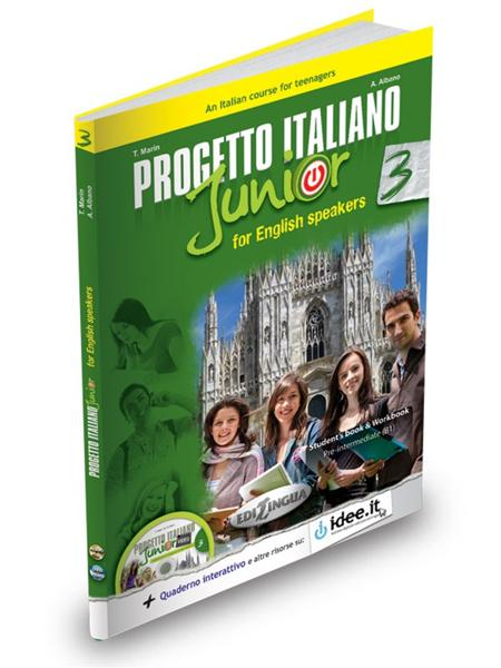 PROGETTO ITALIANO JUNIOR 3 FOR ENGLISH SPEAKERS STUDENTE ED ESERCIZI (+DVD)